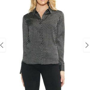 VINCE CAMUTO Trinket Geometric Pattern Button Up S